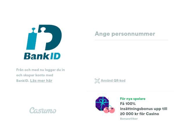 Casumo BankID