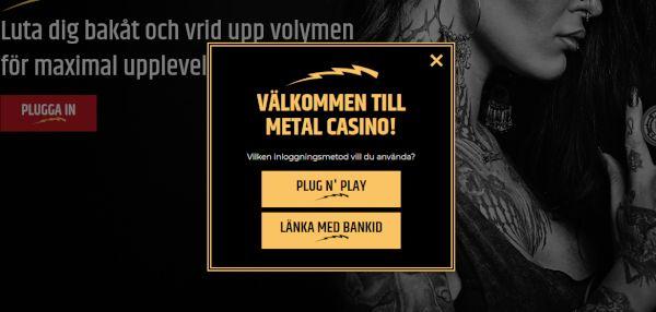 Så registrerar du dig hos Metal Casino