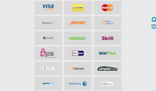 Nordicasino payment options