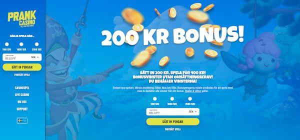 Prank Casino bonusar