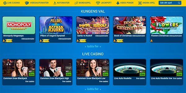 Karl Casinos spelutbud