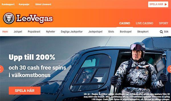 Leo Vegas main page