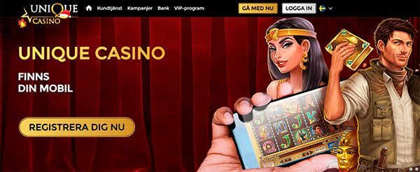 Unique Casino mobile app