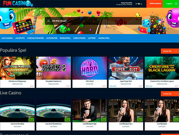 FunCasino home page