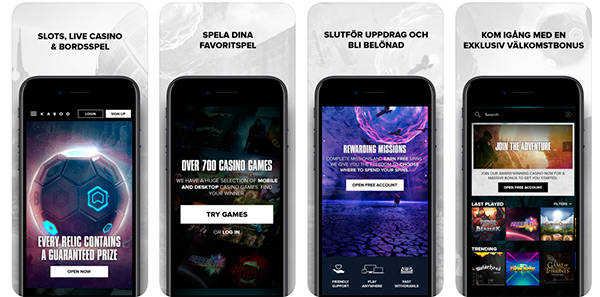 Kaboo Casino mobil app