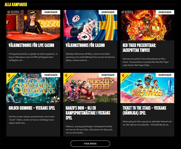Rizk Casinos Bonusar & Kampanjer