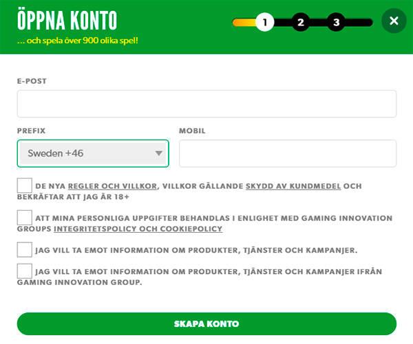 Rizk Casino registration