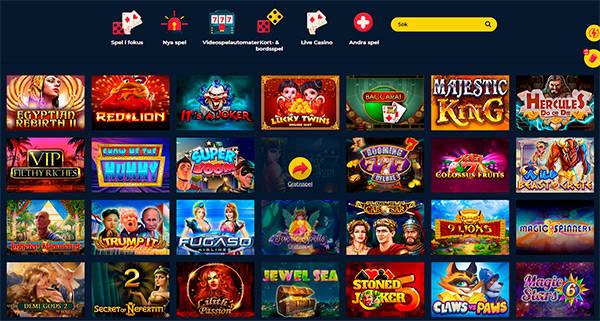 SpinUp Casino spel