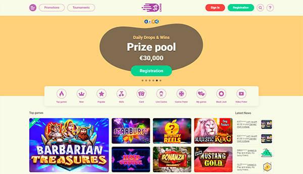 YoYo Casino home page