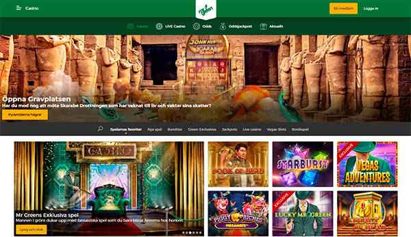 MrGreen home page