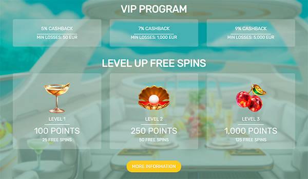 VIP-program hos Paradise Casino