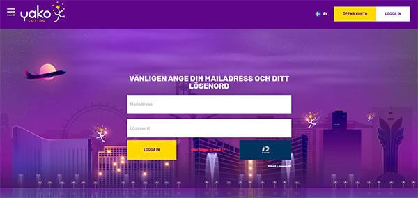 Yako Casino registration