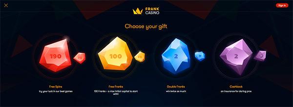 Frank Casino bonusar