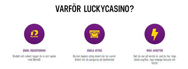 Varför LuckyCasino?