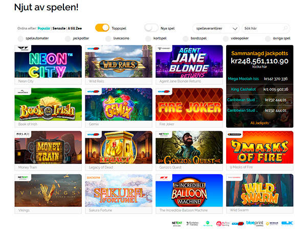PlayZee Casino slots