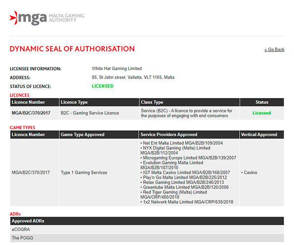 PlayZee Casino license
