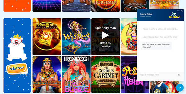 Ridika Casino kundtjänst