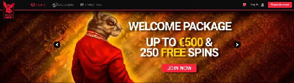 Royal Rabbit Casino välkomstbonus