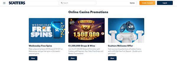 Scatters Casino bonusar