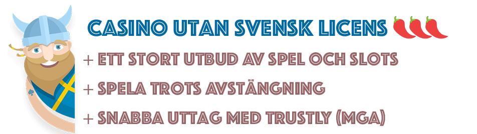 Fördelar med casino utan svensk licens