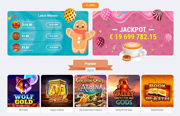 Cookie Casino spelutbud