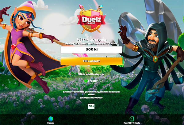 Registrering hos Duelz Casino