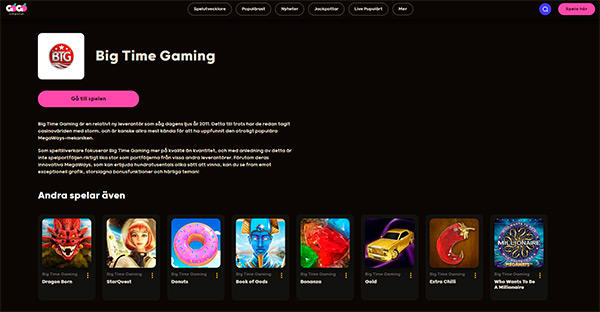 GoGo Casino design och funktion