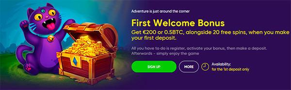 Bao Casino bjuder på en välkomstbonus