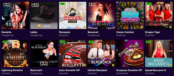 Välfyllt live casino