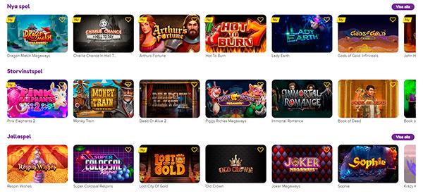 Jalla Casino 1200+ casinospel