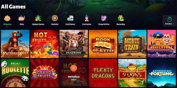 Slot hunter spelutbud med över 2 000 spel