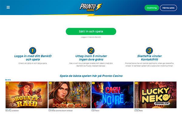 Om Pronto Casino