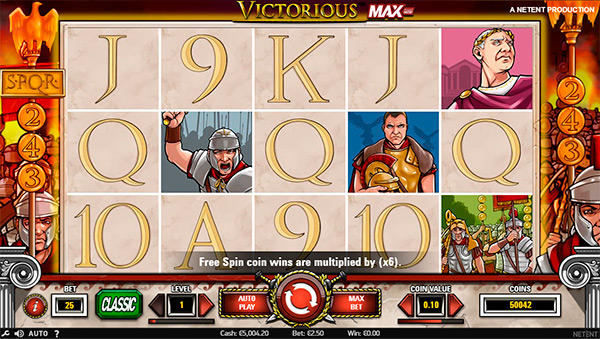 Victorious MAX från NetEnt