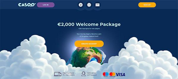 Casoo home page