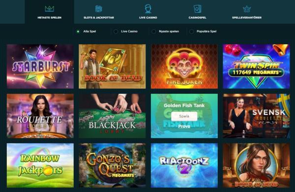 Spela Casino Spelautomater & Spelutvecklare